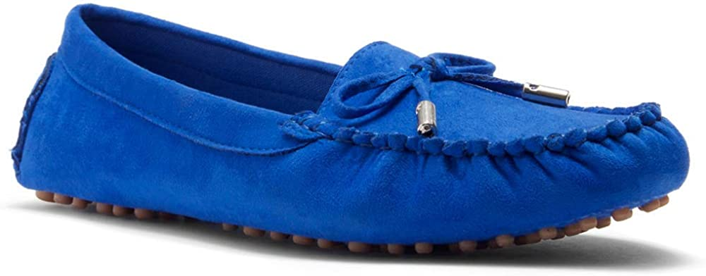 Herstyle Canal Womens Casual Bowknot Penny Loafers Moccasins Driving Shoes Slip on Flat Boat Shoes