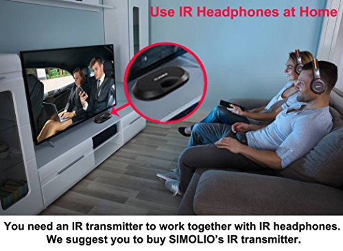 4 Pack of DVD Wireless Headphones, Car Kids Headphones, IR Headphones for Car Entertainment System, Wireless IR Headphones with Dual Channel by SIMOLIO (Image #6)