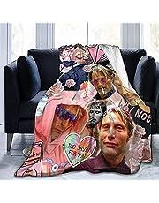 """Mads Mikkelsen Geschenken voor Vrouwen Gooi Dekens Baby Warm, voor Bank, Bed, Woonkamer, Duurzaam Home Decor Flanellen Deken voor Volwassenen en Kinderen 50"""" X 40""""-50"""" X 40"""""""