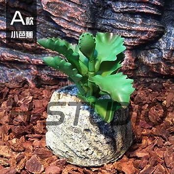 Manchado Hojas Verdes Amarillas JRTAN/&Pet Reptiles Enredaderas Jungle Vines Artificial Ivy Leaf H/ábitat Escalada de Mascotas terrario simulaci/ón Planta paisajismo Plantas Tropicales