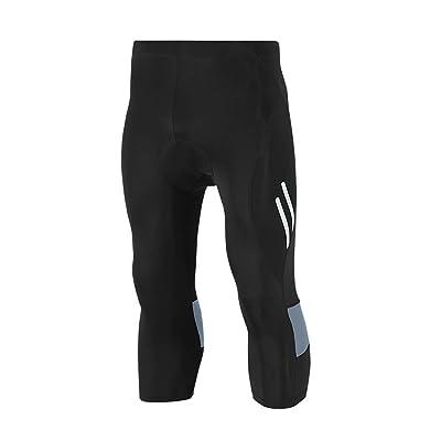 Gwell Homme Pantalons de Cyclisme 3/4 Longues Short de Vélo avec Coussin de Siège 3D Gris