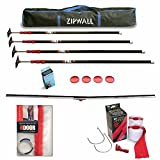 ZipWall 10 4 Pack Dust Barrier System w/ ZipDoor, Tapless Seal, & 2 Pack Zippers