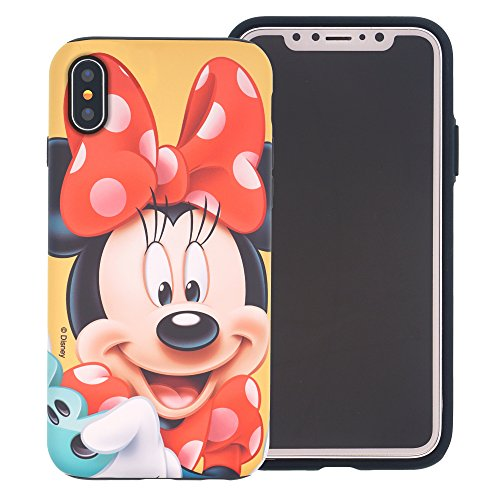 iPhone Xs/iPhone X Case [Heavy Drop Protection] Cute Minnie Mouse Layered Hybrid [TPU + PC] Bumper Cover for [ Apple iPhone Xs/iPhone X (5.8inch) ] - Smile Minnie Mouse
