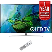 Samsung QN55Q8C Curved 55-Inch 4K Ultra HD Smart QLED TV (2017 Model) with 1 Year Extended Warranty