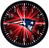 Rusch Inc. Patriots Black Frame Wall Clock E98 Nice For Gift or Home Office Wall Decor 10''