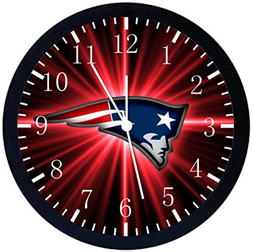 Rusch Inc. Patriots Black Frame Wall Clock E98 Nice For Gift or Home Office Wall Decor 10