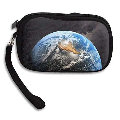 Purse Wide Printing Planet Earth Receiving Portable Small Bag Deluxe X5qfwq