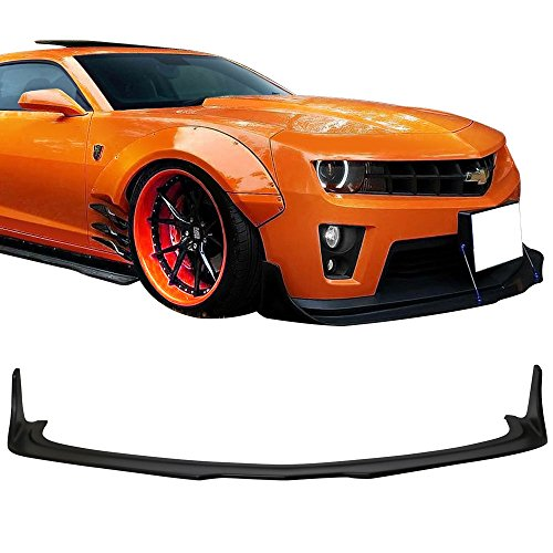 Front Bumper Lip Fits 2010-2015 Chevrolet Camaro ZL1 | MB Style Black PP Bump Lower Body Protection Avoid Against Collision by IKON MOTORSPORTS | 2011 2012 2013 2014