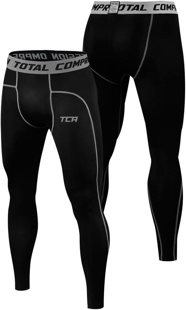 TCA Pro Performance Long Womens Sports Tights Black Soft Stretchy Gym Training