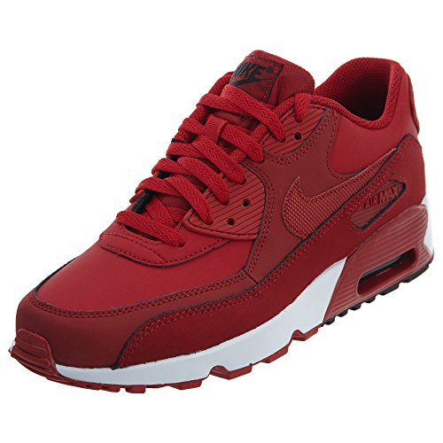 90 Grade Trainers Air Red Black Nike Max Leather Youth School Gym xtBFZpwq