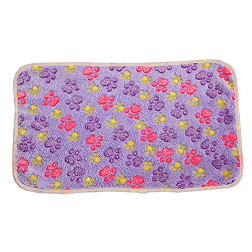 4 Size Warm Pet Mat Paw Pattern Print Cat Kitty Dog Puppy Ultra-soft Blanket Bed Cushion