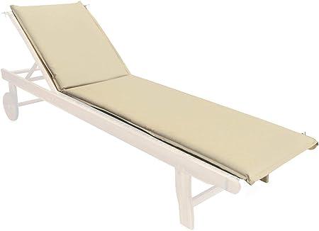 Cuscino per Lettino Prendisole 190x50x4 cm Soriani Bianco