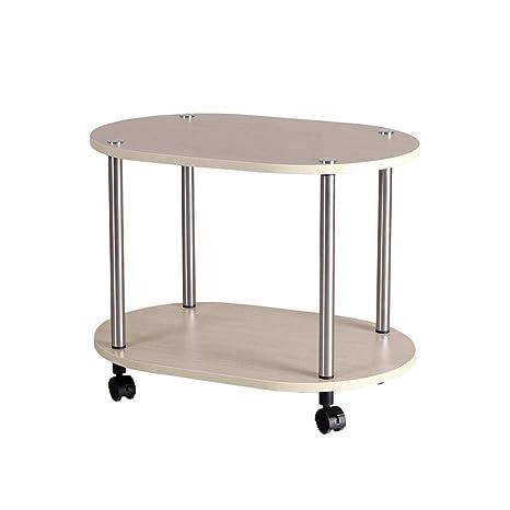 Amazon.com: Xiaolin Mesa redonda de 2 niveles sofá mesa ...