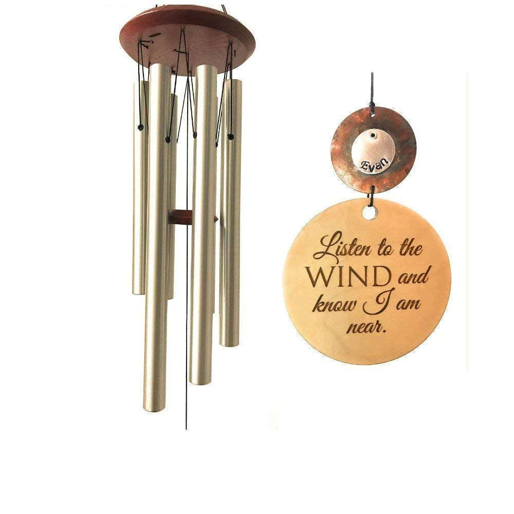 Memorial Wind Chime Silver Sympathy Wind Chime PRIME Rush Shipping for Funeral Loss in Memory of Loved One Copper Listen to the Wind Memorial Garden Remembering a loved one