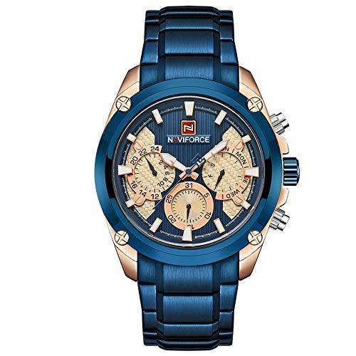 NAVIFORCE Top Luxury Brand Fashion Sport Quartz 24 Hours Date Man Military Waterproof Wrist Watch