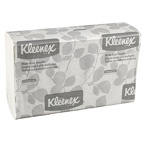 Kleenex Multifold Paper Towels (02046), White, 8 Packs/Convenience Case, 150 Tri Fold Paper Towels/Pack, 1,200 Towels/Case