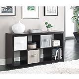 Horizontal or vertical 8 Cube Multiple Storage Organizer, Espresso