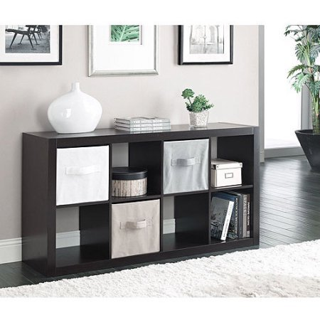 Horizontal or vertical 8 Cube Multiple Storage Organizer in Espresso from Better Homes and Gardens