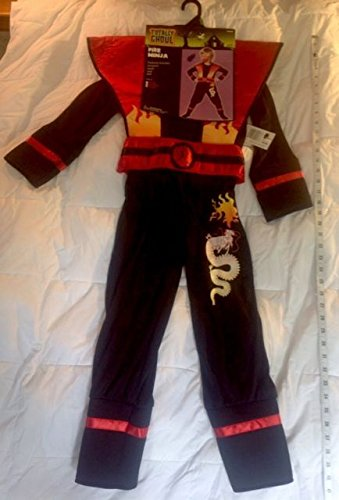 Fire Ninja Costume (Totally Ghoul Fire Ninja Halloween Costume NWT Boys Medium)