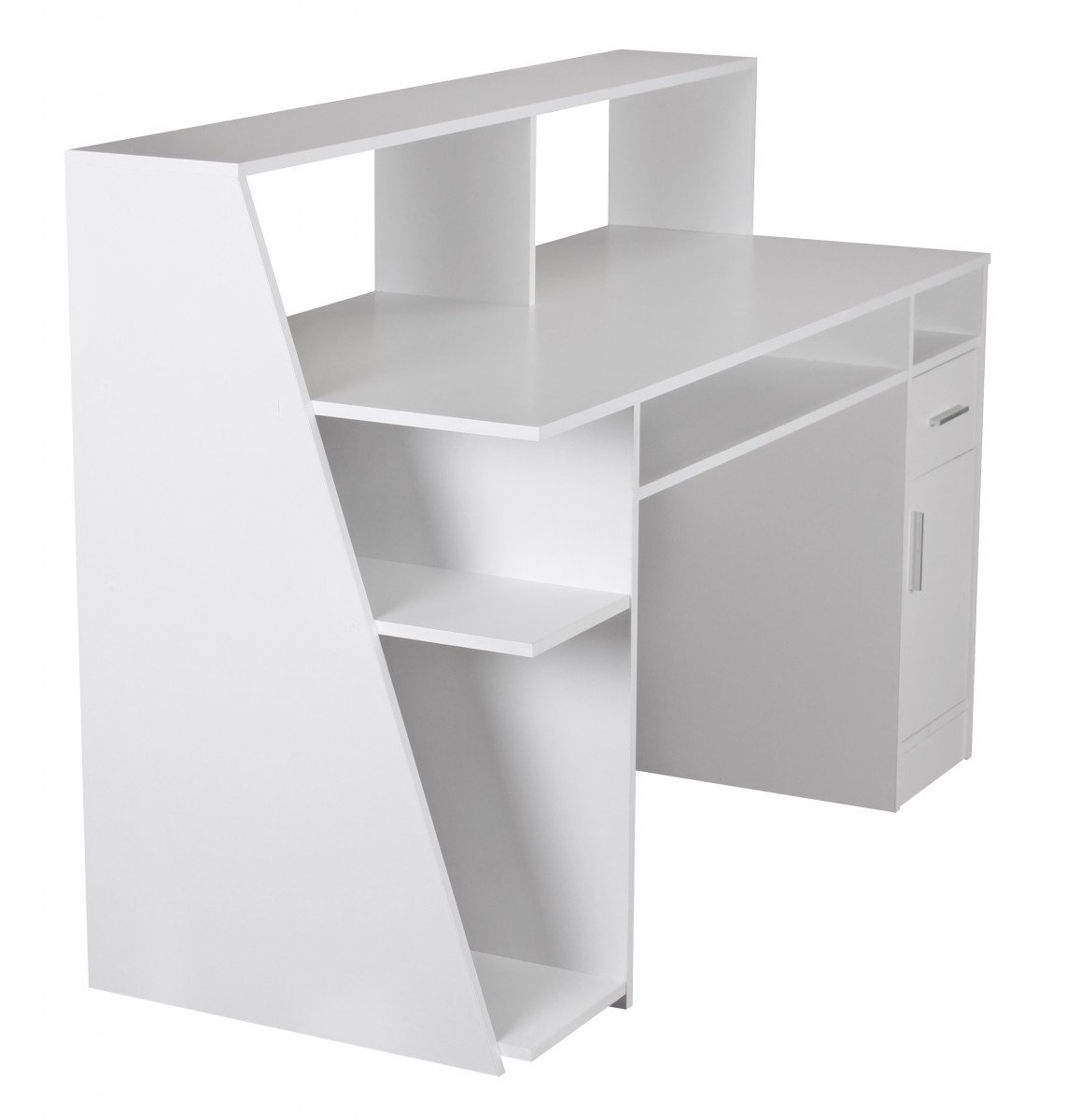 Kinderschreibtisch weiß  WOHNLING multifunctional design desk computer table white storage ...