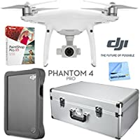 DJI Phantom 4 Pro with Custom Hard Case, DJI 2TB Fly Drive, Paint Shop Pro 9 Bundle