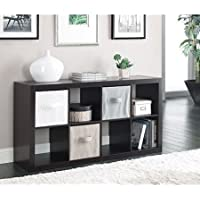 Horizontal or vertical 8 Cube Multiple Storage Organizer, Espresso