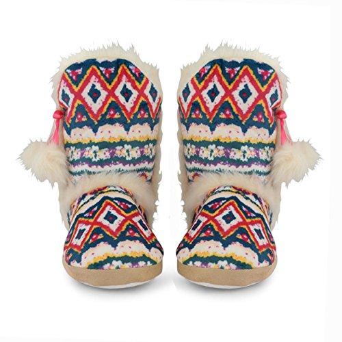 Da Donna Stivaletti Caldi Mix Eskimo Pantaloncini Winter Womens Isle Con Fair Fucsia Dunlop Pantofole 5dw0xq8d