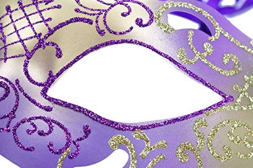 Accessorio 1 Occhio Fiore Piuma purple Operato Veneziana Del Maschera Vestito Merletto Ashopz W WqwAFXnp