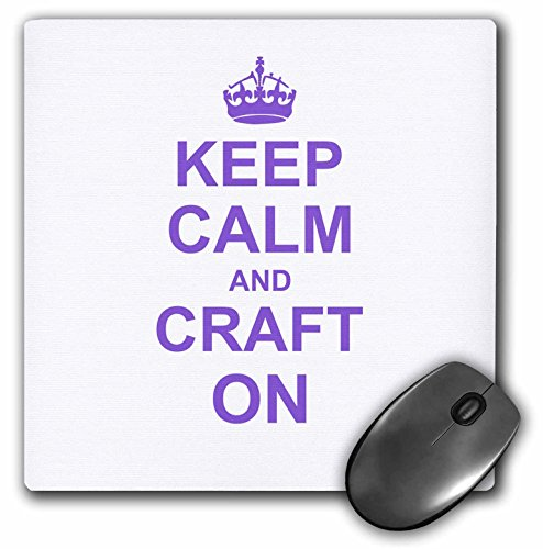 Price comparison product image Keep Calm and Craft on - carry on crafting - crafters gift - purple - Mouse Pad, 8 by 8 inches (mp_157702_1)