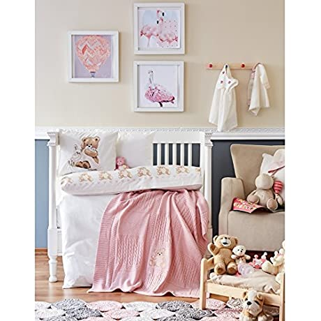 Baby Bear Visco Embroidered Private Set Pink