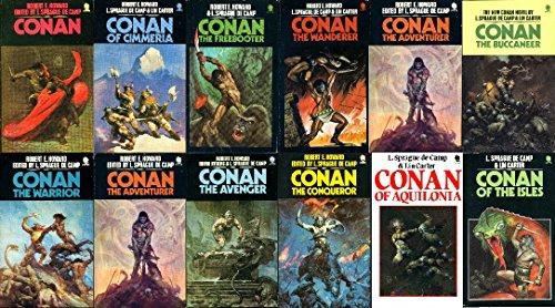 Complete Sphere Conan 1-12 (Conan, Conan of Cimmeria, Conan the Freebooter, Conan the Wanderer, Conan the Adventurer, Conan the Buccaneer, Conan the Warrior, Conan the Usurper, Conan the Conqueror, Conan the Avenger, Conan of Aquilonia, Conan Isles)