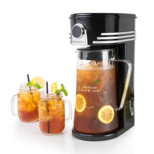 Nostalgia CI3BK Iced Coffee Maker and Tea Brewing System, Glass Pitcher, 3 quart Black by Nostalgia (Image #2)