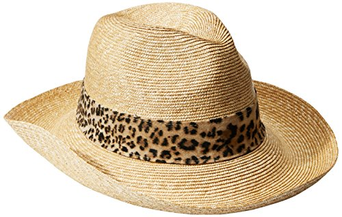 Gottex Women's Jungle Fever Sun Hat, Rated UPF 50+ For Max Sun Protection, Natural/Leopard, One Size by Gottex