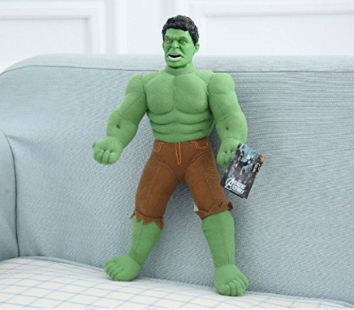 1pcs Super Hero Avengers Incredible Hulk Big Large Stuffed Animals Soft Plush Toy Doll Collection 40CM ()