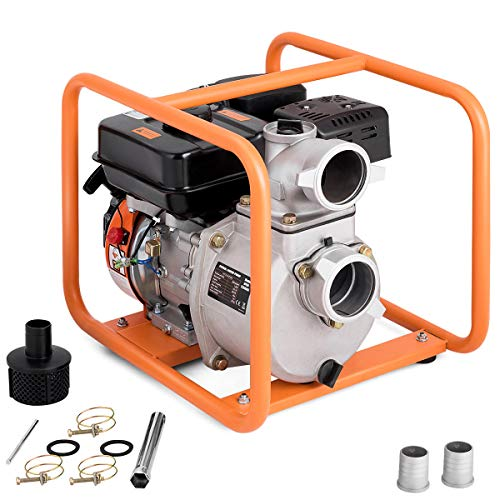 - Goplus Gas-Powered Water Transfer Pump 7 HP 4-Stroke Flood Irrigation 264-Gallon-Per-Minute 208cc Engine Portable Water Pump (3-Inch) (264-Gallon-Per-Minute)