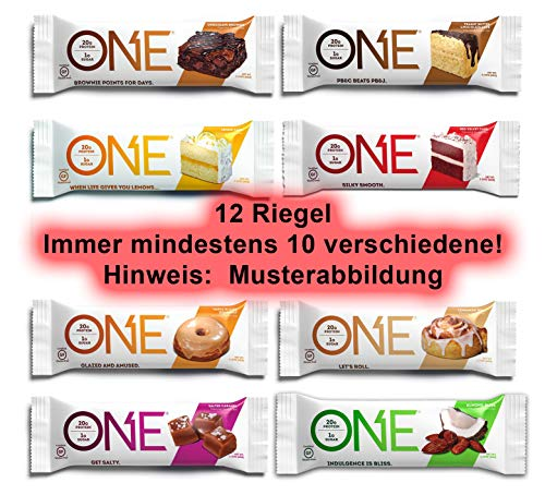 Oh Yeah! One Protein Bars Variety Pack, 12 Bars, Various ...