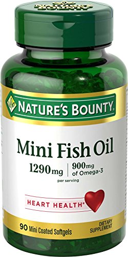 Nature's Bounty Fish Oil 1290 mg, 90 Mini Odorless Softgels