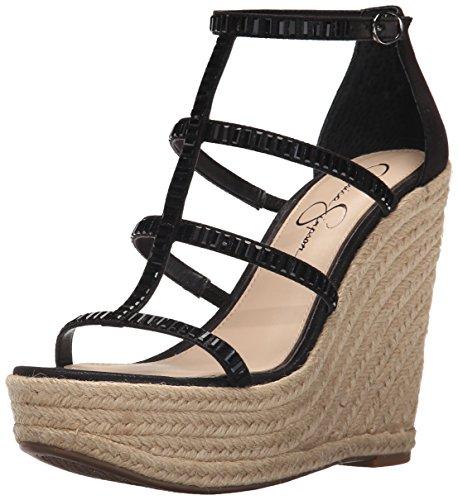 Wedge Black Women's Sandal Simpson Jessica Adelinn Espadrille zxqwY5IH
