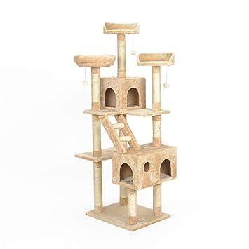 Gato Lujo Marco Escalada Árboles para Gatos Gato Árbol Villa One Grab Column Toy Gran Lujo Asamblea Sólido Juguete Mascotas Muebles De Gato Tingting (Color ...