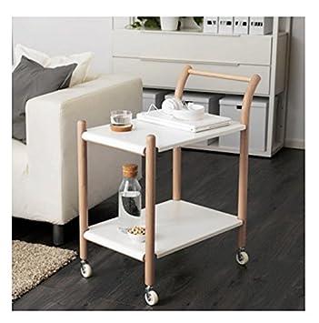 Sterling sólido Resistente Mesa Auxiliar Sobre Ruedas - se Puede Utilizar como como una estación de Trabajo, Mesa de café, Carrito de Cocina o mesita de ...