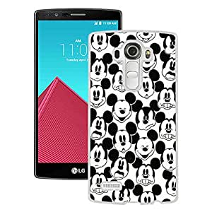 Custom Luxury Cover Case With Mickey Mouse White LG G4 Case