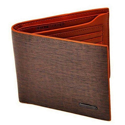 Sannysis Herren-Geldbeutel Brown Brieftasche Kaffee PU-Leder-Mappen-Kreditkarte-Mappen-