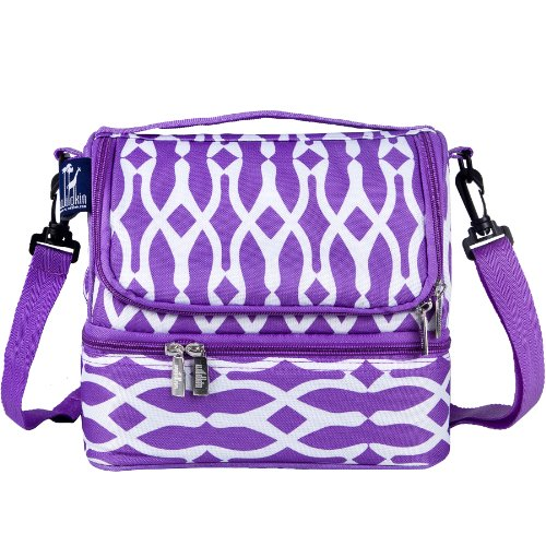 Bone Lunch Box (Wildkin Two Compartment Lunch Bag, Insulated, Moisture Resistant and Easy to Clean, Complete with a Microwave and Dishwasher-Safe Container, Ages 5+, Perfect for Kids & On-The-Go Parents, Wishbone)