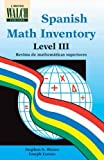 Spanish Math Inventory Level III, Stephen S. Winter and Joseph Caruso, 082512171X