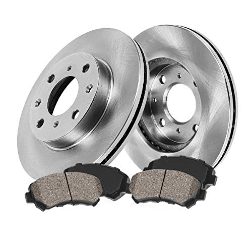 FRONT 280 mm Premium OE 4 Lug [2] Brake Disc Rotors + [4] Ceramic Brake Pads