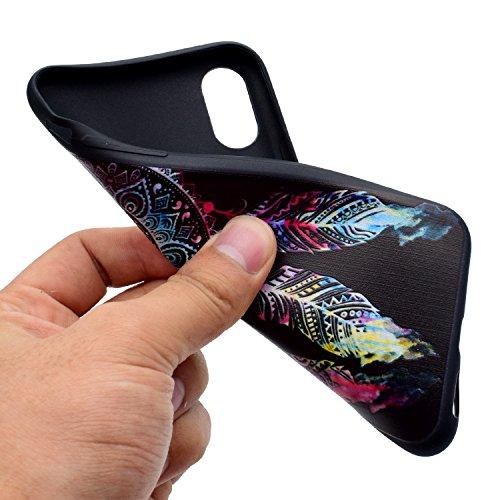 iPhone X Hülle Traumfänger Premium Handy Tasche Schutz Schale Für Apple iPhone X / iPhone 10 (2017) 5.8 Zoll + Zwei Geschenk