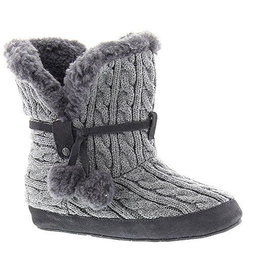 (Bearpaw Womens Trista: Ankle Bootie Slipper (Charcoal, 8))