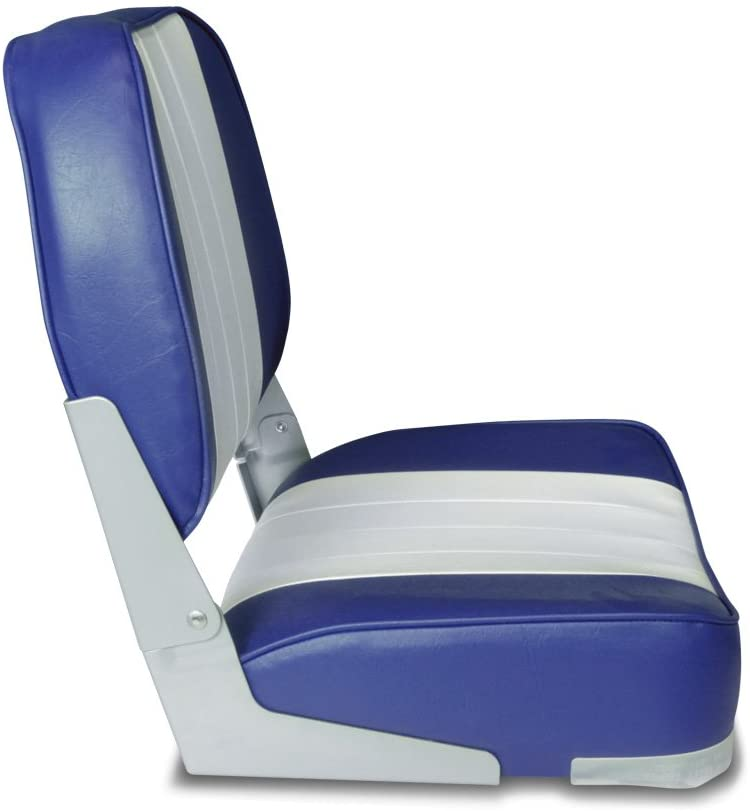 75116GB yacht fishing speed chair DELUXE FOLDING MARINE BOAT SEAT Grey//Blue