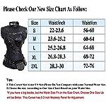 Kiwi-Rata Women's Steel Boned Vintage Corset Steampunk Gothic Bustier Waist Cincher Vest 7