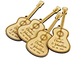 Summer-Ray 50 Wooden Laser Guitar Wedding Party Favor Gift Tags